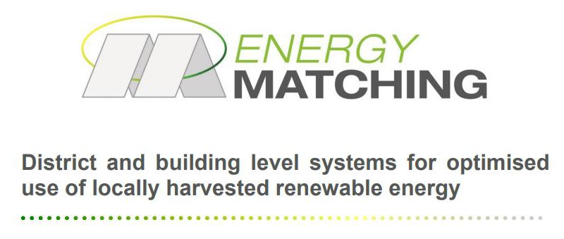 District and building level systems for optimised use of locally harvested renewable energy