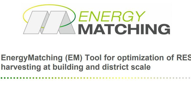 EnergyMatching (EM) Tool for optimization of RES harvesting at building and district scale