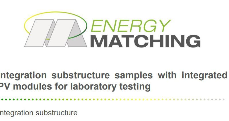Integration substructure samples with integrated PV modules for laboratory testing