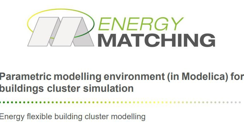 Parametric modelling environment (in Modelica) for buildings cluster simulation